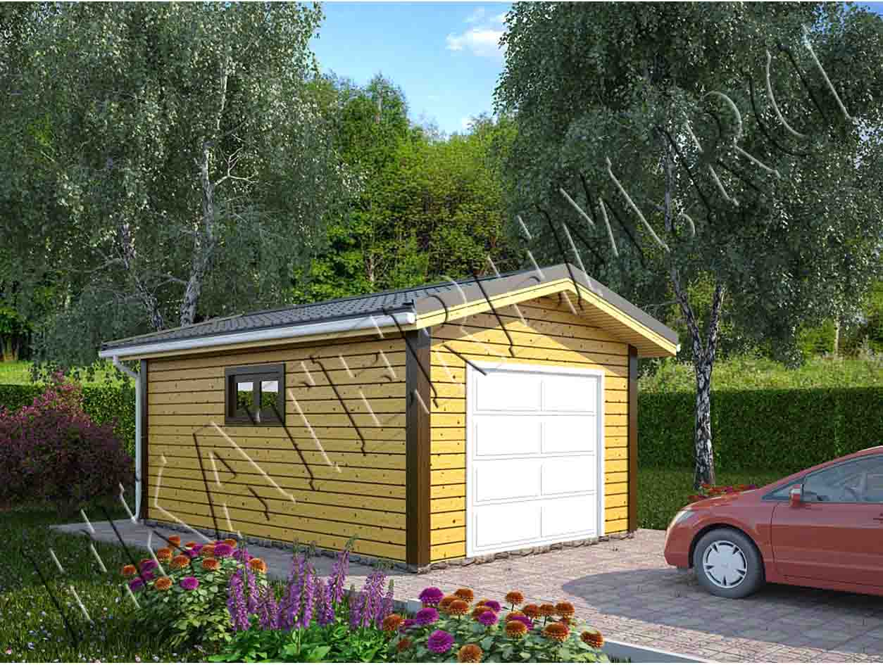 Проект г образного гаража