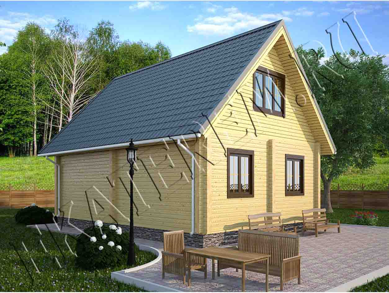 Красивый загородный дом с мансардой - DOM4М в Беларуси