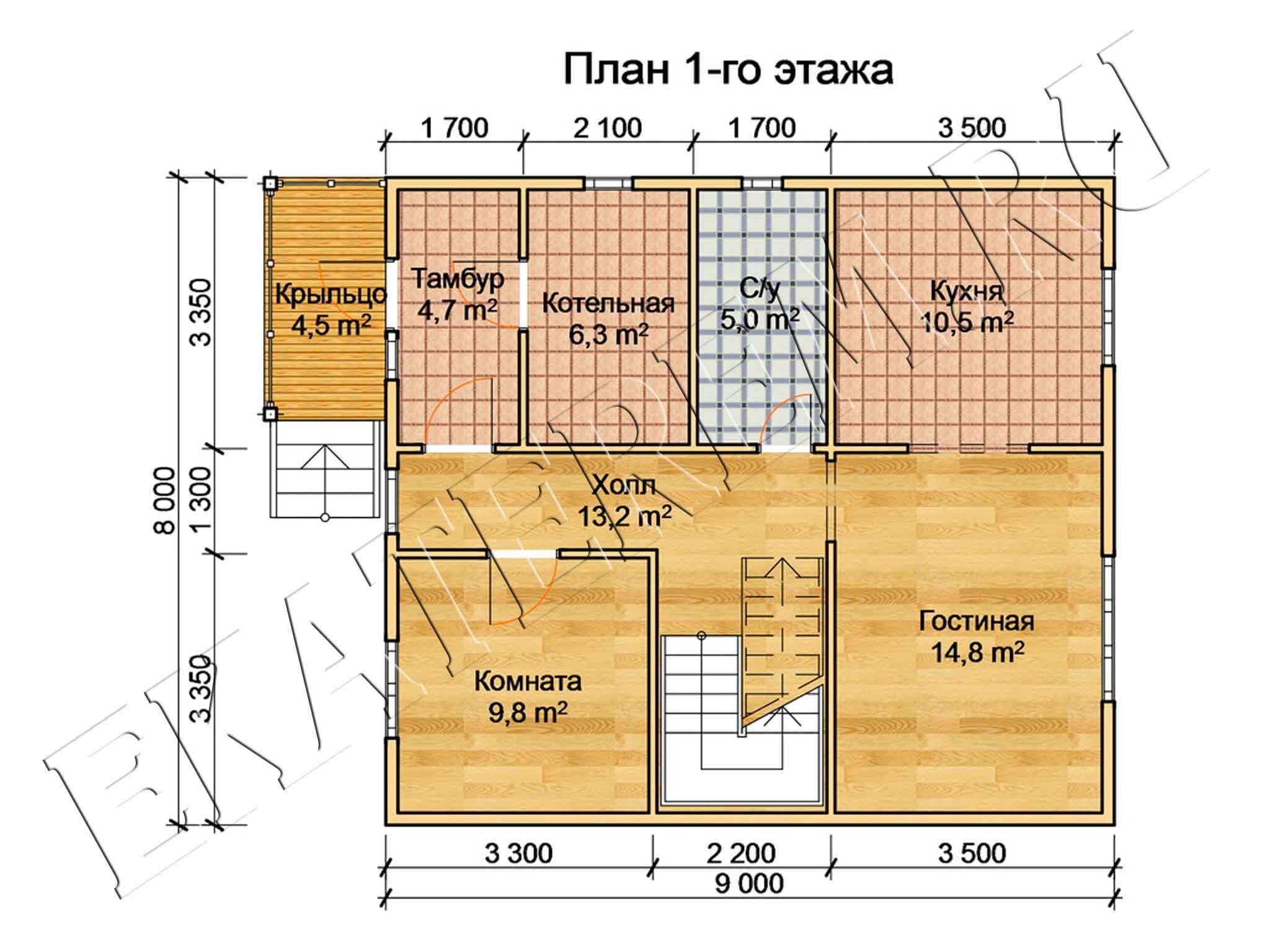 Планы домов из бруса схема