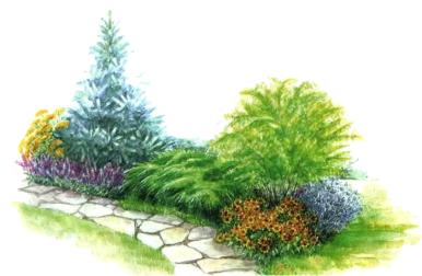 Придомовой ландшафт частного дома своими руками фото 815